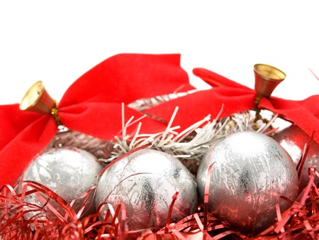Christmas decoration over white background, closeup, for various christmas related themes and backgrounds 版權商用圖片