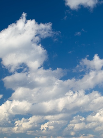 cumulus clouds and the blue sky , for backgrounds