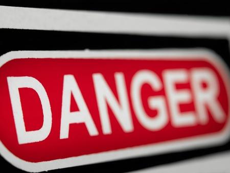 Danger sign, shallow DOF, for danger related themes