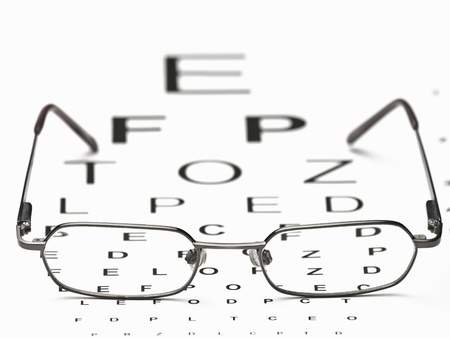 glasses and eye test chart ,for Distance Vision Test themes