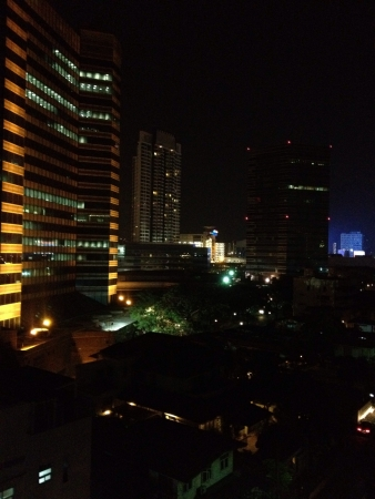 Bangkok buildings at night 版權商用圖片