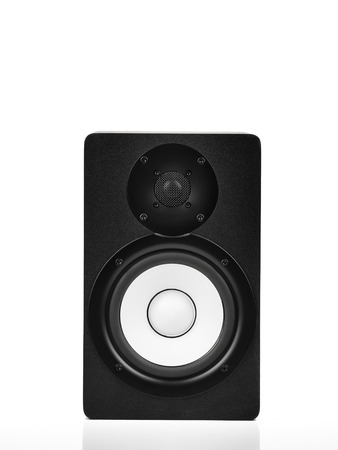 Speaker over white background , for audio related themes