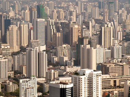 cityscape of Bangkok city in the late afternoon , Thailand,SE Asia 版權商用圖片