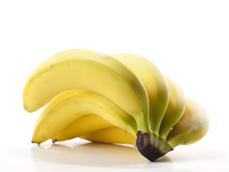 Banana over white background, for nutrition, diet, healthy eating themes