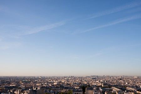 Anonymous Paris cityscape without the significant landmarks. May act as a generic cityscape. Stock Photo