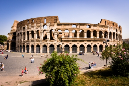 Colosseum in Rome Italy on hot summer day Stock Photo - 13714498