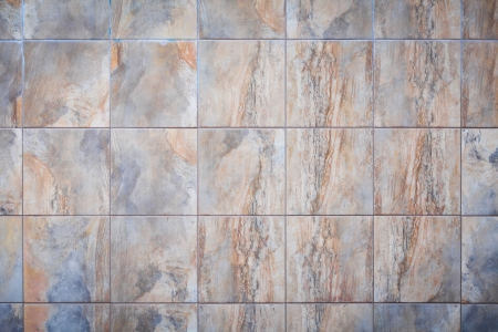 Wide shot of colorful real marble tiles photo