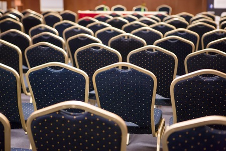 line lines luxury meeting: Luxury blue and gold chairs on a conference