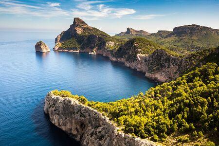 Vue du Cap de Formentor depuis le Mirador Es Colomer, Majorque, septembre 2018