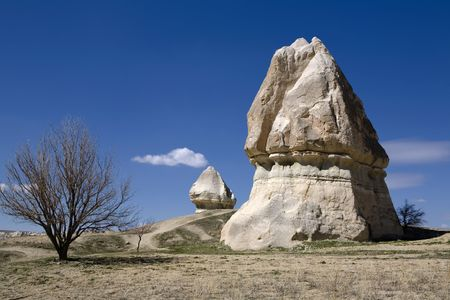 Strange and amazing stone formations in Cappadocia, Turkey photo
