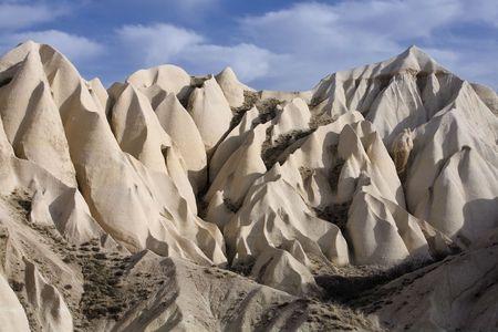Sandstone formations in Cappadocia, Turkey