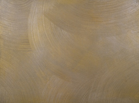 centric: texture of a cement wall covered with metallic paint, with frequent, round, centric strokes.