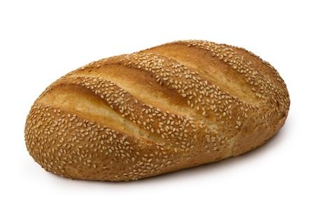Brot frisch Weizen, isolated on white Background.