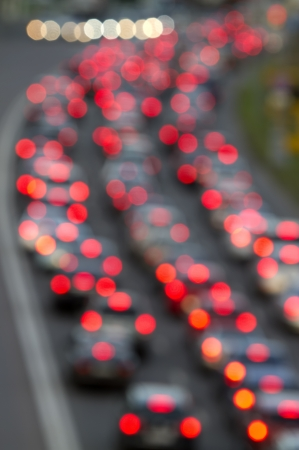 night traffic: city  traffic in the afternoon, out of focus image Stock Photo