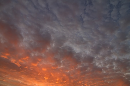 time lapse: magical clouds at sunset