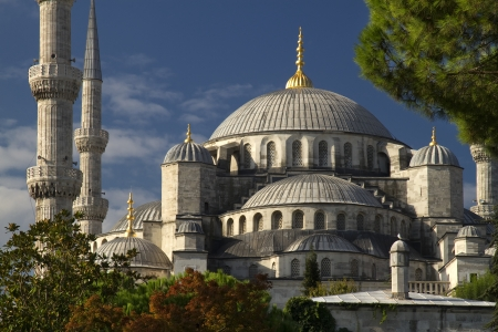The Blue Mosque in Istanbul Turkey Stock Photo