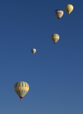 Hot Air Ballons Flying on the Sky in Cappadocia Turkey