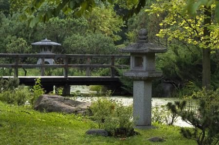 summer garden in the japanese style