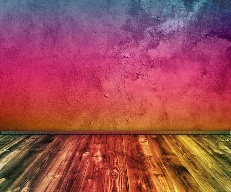 grunge multicolored interior                photo