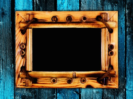 frame onl wooden wall Stock Photo - 8058271