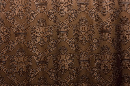 brown vintage curtain as background photo