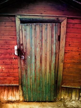 vintage wooden door                              photo