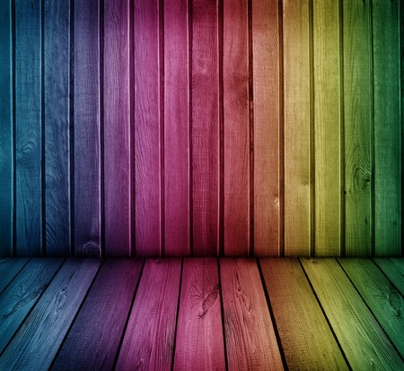 colorful wooden room    photo