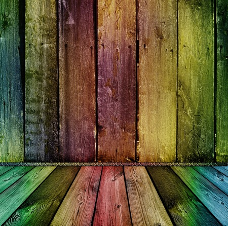 striped texture: bright colorful vintage wooden interior