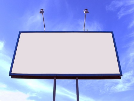 Blank big billboard over blue sky, put your text here Stock Photo - 8347607