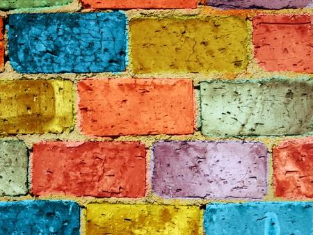 painted brick wall Stock Photo - 8165576