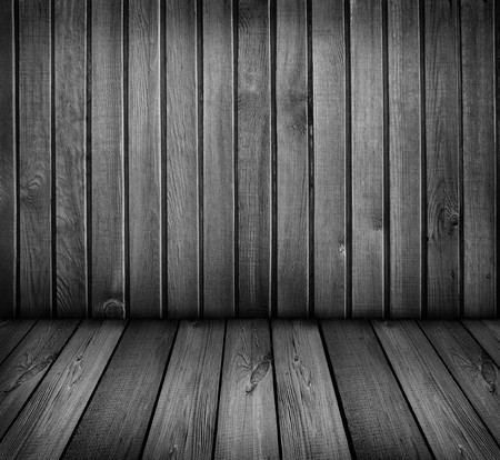 black and white wooden room                   photo