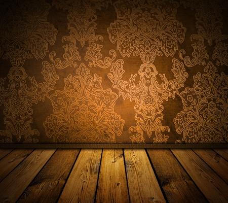 dark sharp brown vintage interior photo