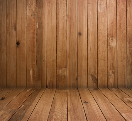 wooden floors: vintage brown wooden planks interior Stock Photo