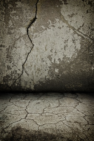 rusty cracked concrete dark  vintage interior with artostic shadows added Stock Photo - 8396409