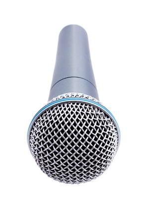 close up shot of microphone isolated on white  Stock Photo - 9264788