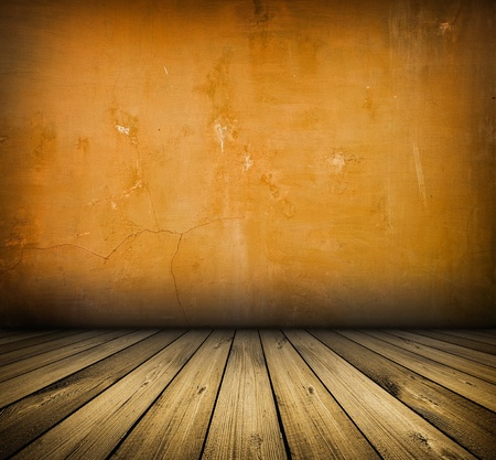 dark vintage red room with wooden floor and artistic shadows added Stock Photo - 9677576