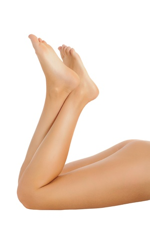slender healthy female legs isolated on white background Stock Photo - 12904731