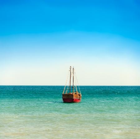 fisherman boat: red fisherman