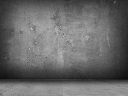 room wallpaper: concrete grey wall and floor with shadows Stock Photo