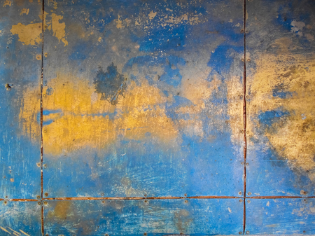 Golden and blue. Background with golden and blue textures