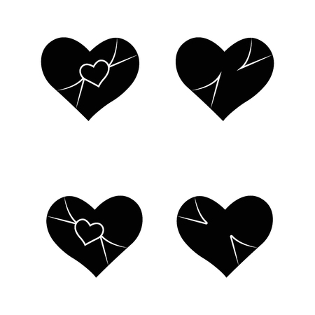 Big set of various heart templates. Different hearts collection. Ilustracja