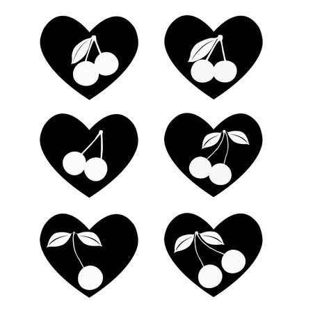 Big set of various heart templates. Different hearts collection.  heart
