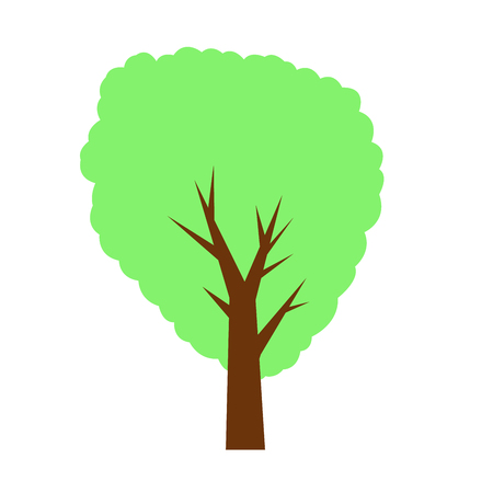 Decorative tree on white. vector illustration. background. Ilustração
