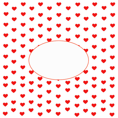 Valentines Day. Heart Frame with space for Text. valentine card.