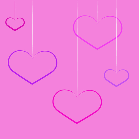 Lovely heart. heart shapes in different sizes and colors for Valentines Day background. Иллюстрация