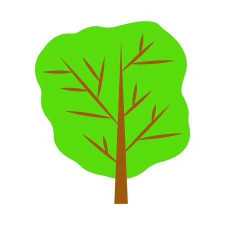 Decorative tree on white. vector illustration. background.