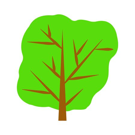 Decorative tree on white. vector illustration. background. Vettoriali