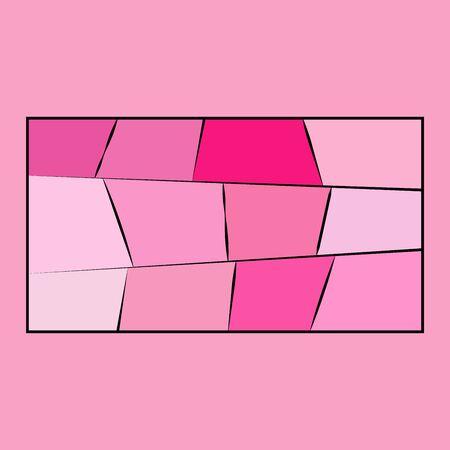 frame on a pink background. frame