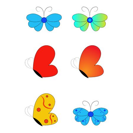 Butterfly design. Beautiful Butterfly Vector. Butterfly isolated on white background. Butterfly - vector icon.