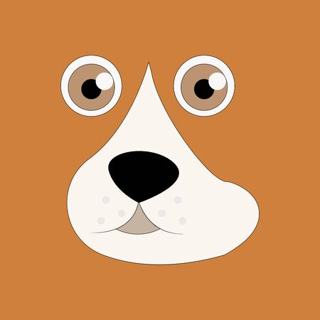 Dog sitting. Vector puppy pooch. Cute cartoon funny character. Help homeless animal concept. background Isolated. Ilustracja
